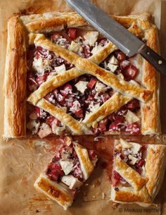 Rhubarb Apple Tart with Coconut & Chocolate | Eyes Bigger Than My Stomach