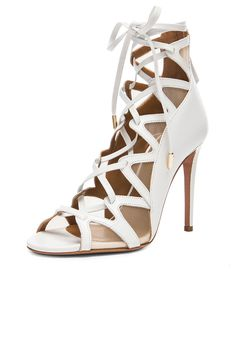 Image 2 of Aquazzura French Lover Leather Heels in White