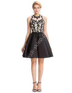 Sukienka z gipiurową koronka | sukienka na wesele, komunie