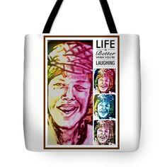 "Herman's Smile Tote Bag 18"" x 18"""