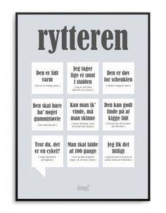 Sjov og personlig plakat til den selvironiske rytter Wise Words, Qoutes, Language, Lol, Humor, Motivation, Sayings, Memes, Funny