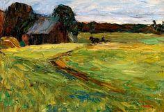 Wassily Kandinsky (Russian, 1866-1944) - Rural Landscape, c. 1903 (Oil on canvas)