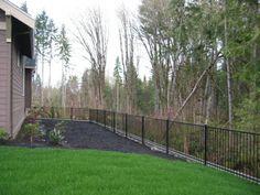 Kirkland Ornamental Iron Fencing In Redmond, Bellevue and Bothell . Building Software, Wrought Iron Fences, Driveway Gate, Fencing, Homesteading, Sidewalk, Deck, Landscape, World
