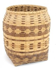 Native American Basket Weaving | Native American Two-Toned River Cane Woven Open ... | Basket Weaving