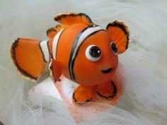 Mi reproducción de Nemo como topper para una torta....