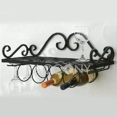 Creative Wrought Iron Wine Shelf on http://www.paccony.com/product/Creative-Wrought-Iron-Wine-Shelf-22292.html