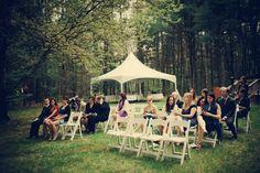 intimate-backyard-wedding-massachusetts Good ideas. Simple, small, cocktails.
