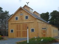 Geobarns, barn builder, specializes in artistic barns, using a modified post and beam structure to achieve a combination of strength, versatility and beauty at reasonable prices. Barn Builders, Beam Structure, Post And Beam, Modern Barn, Cape Cod, Massachusetts, Commercial, Outdoor Structures, Garages