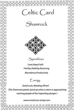Shamrock irish celtic card