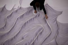 Installation of 10,000 paper strips - BOOOOOOOM! - CREATE * INSPIRE * COMMUNITY * ART * DESIGN * MUSIC * FILM * PHOTO * PROJECTS