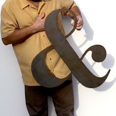 AMPERSAND metal wall art custom sign 24 by FunctionalSculpture, $59.00
