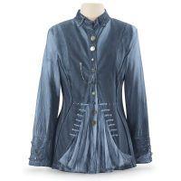 Steampunk Denim Blue Jacket. pyramidcollection.com