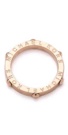 Stylmee - Michael Kors Astor Ring $55  #fashiongame #fashion