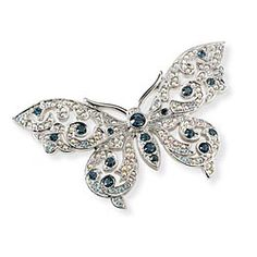 Swarovki crystal butterfly brooch