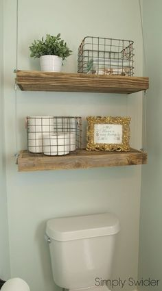 industrial bathroom makeover, bathroom ideas, shelving ideas, wall decor, woodworking projects