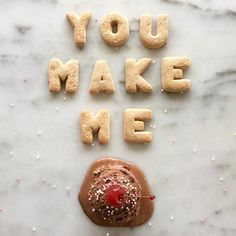 We're head over heels for these food-themed Instagram Valentines from @mariesaba.