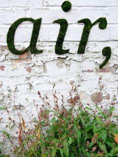 Moss graffiti inspiration | Fresh & Fab Outdoor Pad