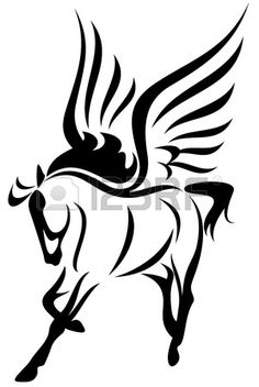 pegasus vector illustration - symbol of inspiration photo
