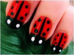 ladybug nails.... so cute