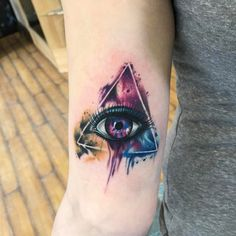 """The All Seeing Eye"" galaxy Tattoo. Although this one is the controversial symbol, but actually it is symbolism for high spiritual power or even an awakening of the spirit."