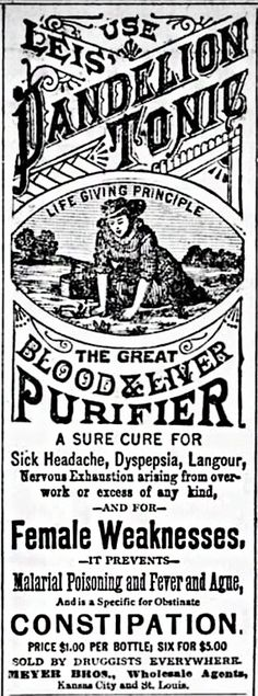 Old Time Medication. Female Weaknesses stood out to me! What the heck! – MY DESIGN Vintage Labels, Vintage Ads, Vintage Images, Vintage Ephemera, Vintage Signs, Retro Advertising, Vintage Advertisements, Steampunk, Medicine Bottles