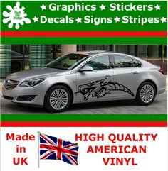 """21"""" High Car Side Stripes Graphic Decal Vinyl Stickers Van Auto Rally Race F1_50"""