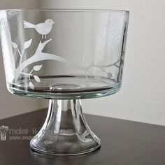 How to etch glass (glass painting). Yes please! This looks awesome! Oh the weekend plans...