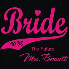 Personalized Future Bride to Be   TShirt with by KrazyKustomTees, $14.99