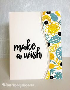 wienerhoneymooners: Make a Wish Card - NEW Pinterest Inspired Challenge!