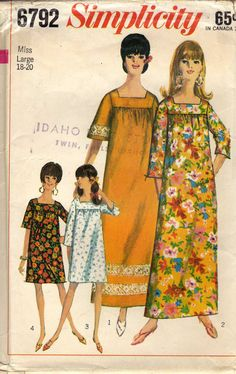 1966 Simplicity 6792 Vintage Sewing Pattern Misses by llullugirl
