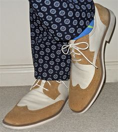 Club Monaco pants, Stacy Adams suede and canvas shoes…