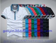 2014 New summer crocodile T-Shirts Men casual shirt Fashion T-Shirts Short-sleeved T-Shirts men 10 color Casual Shirts For Men, Men Casual, Shirt Style, Polo Shirt, Summer, Sleeves, Mens Tops, Color, Polo