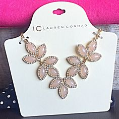 Lauren Conrad Jewelry, Lc Lauren Conrad, Lc Jewelry, Jewelry Necklaces, Christmas List 2016, Crystal Design, Gold Chains, Pink And Gold, Retail