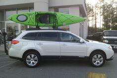 2012 Subaru Outback. Subaru offers the sleek and handy kayak carrier. Come see us at Gerald Jones Subaru for more information. Or visit us online: www.geraldjonessubaru.com