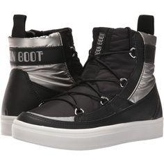 ladies shoes moon boat vegablack-silver