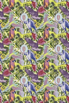 Martinique Jungle fabric, Wallpaper Direct