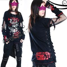 punk rave clothing line / visual kei , look for the Anime Emo Punk Tech  Movement