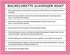 Cute Scavenger Hunt