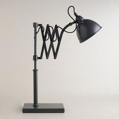 Lamp for boys room Accordian Task Table Lamp