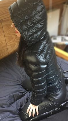 Screen Shot at Coats For Women, Jackets For Women, Down Suit, Nylons, Down Puffer Coat, Shiny Leggings, Puffy Jacket, Cool Jackets, Other Outfits