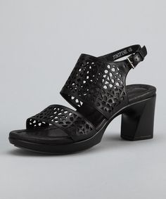 Take a look at this Black Junipine Sandal by Earth on #zulily today!