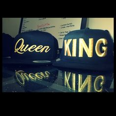 Matching King and Queen Hats -holla                                                                                                                                                     More