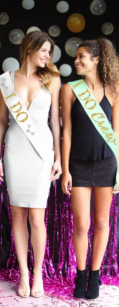 "Give the entire crew these ""I Do Crew"" sashes for the Bachelorette Party or Bridal Shower!"