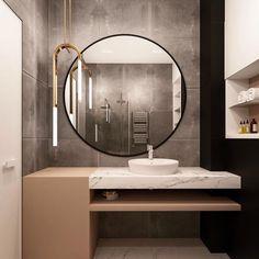Bathroom Furniture Mirror Interior Design Ideas For 2019 Bathroom Mirror Design, Bathroom Interior Design, Home Interior, Modern Bathroom, Small Bathroom, Master Bathroom, Bathroom Ideas, Bathroom Cabinets, Bathroom Furniture