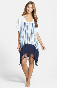 Love this tie-dye fringe cover-up