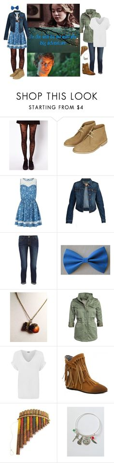"""peter pan and wendy"" by sweetpichie ❤ liked on Polyvore featuring Once Upon a Time, ASOS, Topshop, Parisian, Dear John, Frame Denim, Denim & Supply by Ralph Lauren and WearAll"