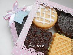 Печенье For you набор мыла - печенье,шоколадное,набор,мыло,ручная работа