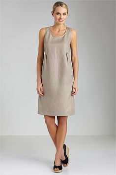 Women's Dresses - Capture Linen Soft Pleat Dress