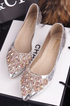 crystal Chanel shoes