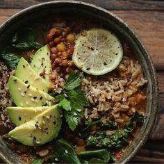 Lentil-Quinoa Soup Bowl